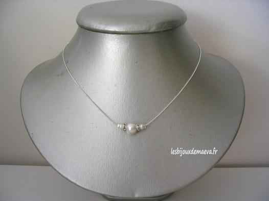 collier mariage perle