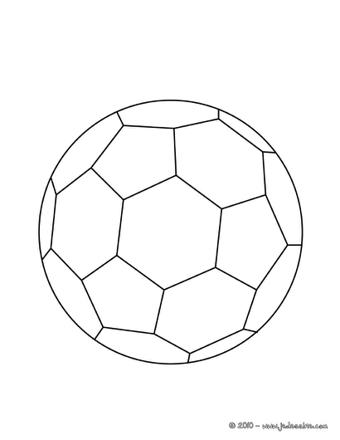 coloriage ballon foot