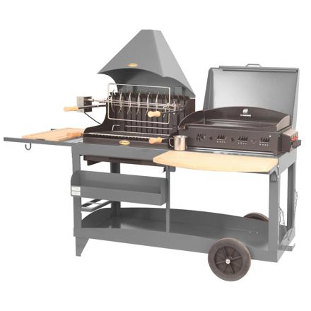 combiné plancha barbecue