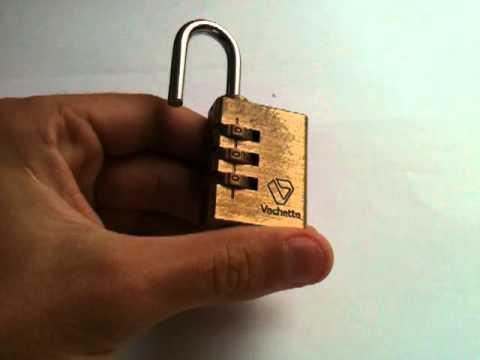 comment changer le code d un cadenas à 3 chiffres