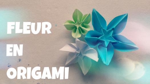 comment faire une fleur en papier origami