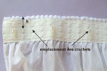 comment mettre des crochets sur des rideaux