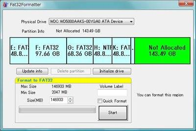 configurer disque dur externe