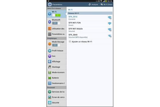 connecter tablette samsung a imprimante wifi
