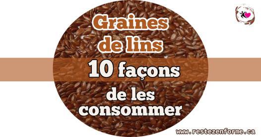 consommer des graines de lin