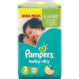 couche pampers taille 3 baby dry
