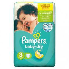 couches pampers baby dry taille 3