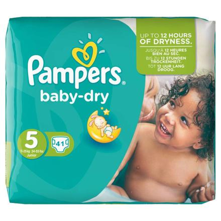couches pampers baby dry taille 5