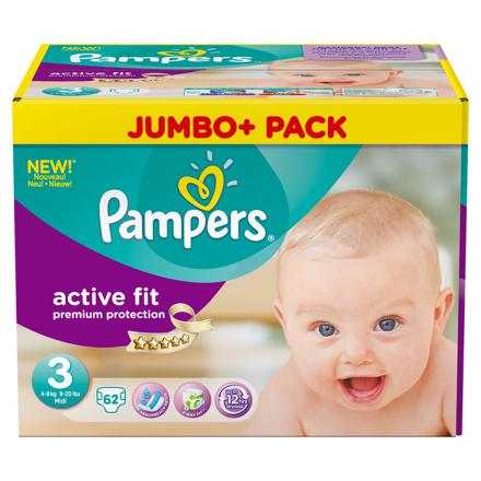 couches pampers taille 3 active fit