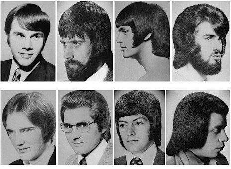 coupe de cheveux année 70 homme