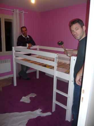 couper un lit superposé
