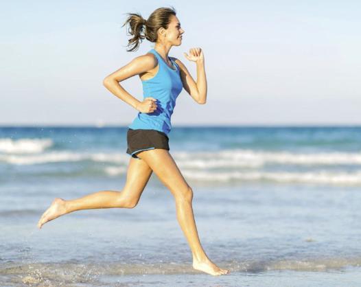 course a pied femme