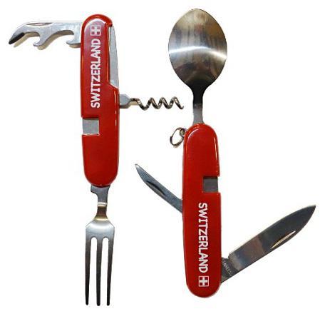 couteau suisse avec fourchette cuillère