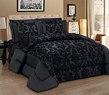 couvre lit noir et argent