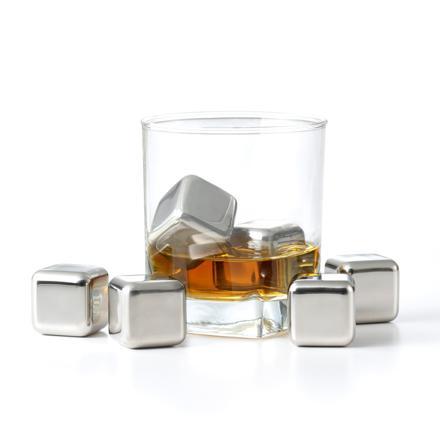 cubes glaçons en acier inoxydable