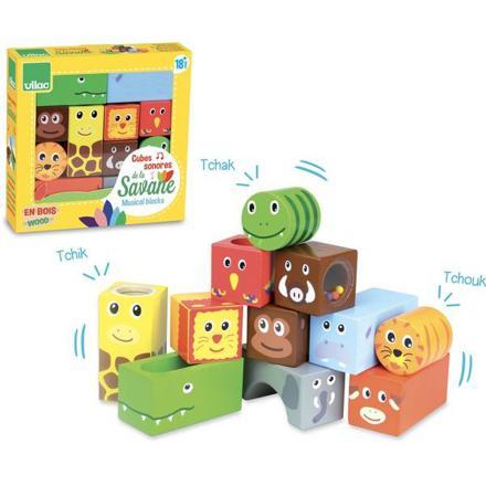 cubes sonores animaux de la savane