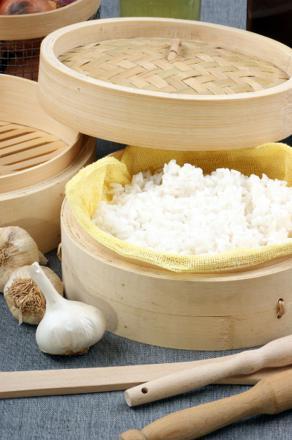 cuire riz a la vapeur