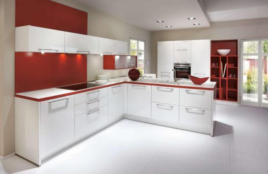 cuisine rouge blanc