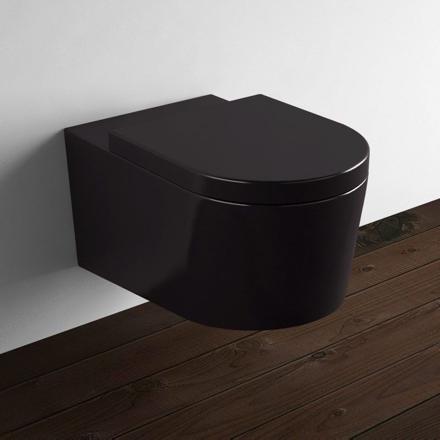 cuvette wc suspendu noir