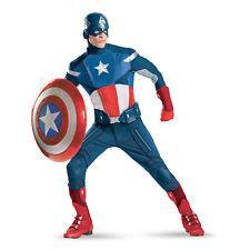déguisement captain america homme