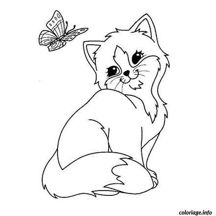 dessin de chat mignon