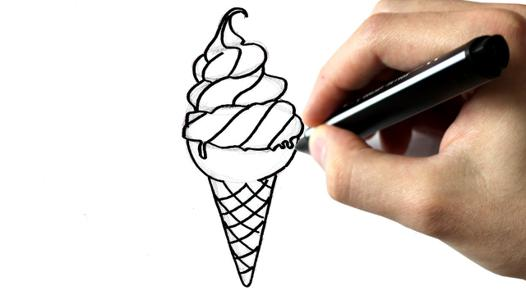 dessin glace à l'italienne