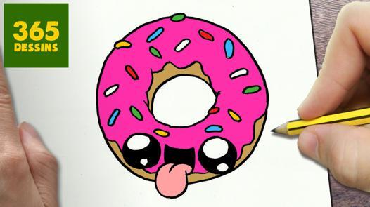 dessin kawaii donut