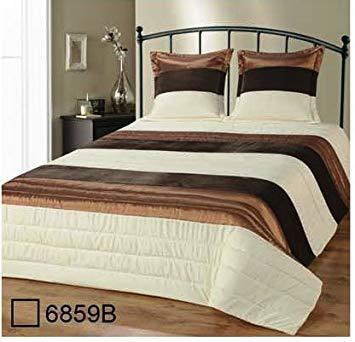 dessus de lit marron