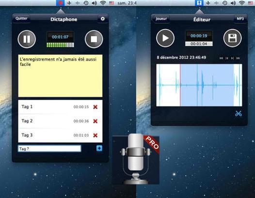 dictaphone sur mac