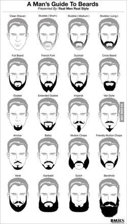 différentes barbes homme