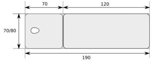 dimension table de massage