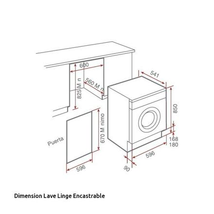dimensions lave-linge