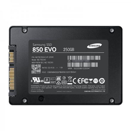 disque ssd interne samsung ssd 250go 850 evo mz-75e250b/eu