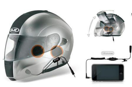 ecouteur casque moto iphone