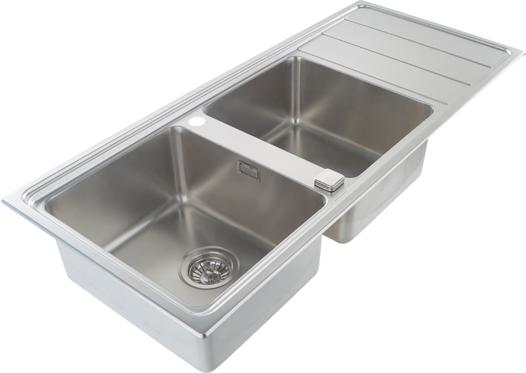 evier inox 2 bacs professionnel