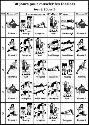 exercice pour muscler le fessier