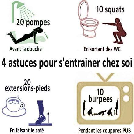 exercices de sport à la maison