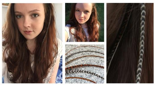 extension cheveux plume