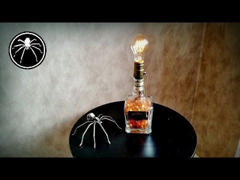 faire une lampe avec une bouteille de jack