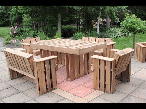 faire une table avec des palettes