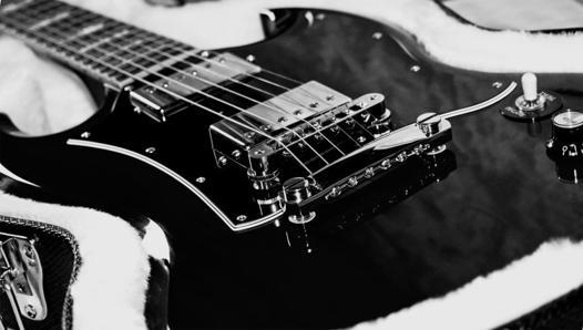 guitare fond d'écran noir et blanc
