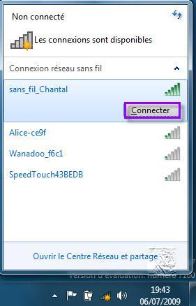 internet fonctionne avec le cable ethernet mais pas en wifi