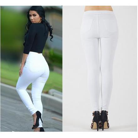 jean blanc grande taille femme