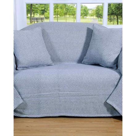 jeté canapé gris