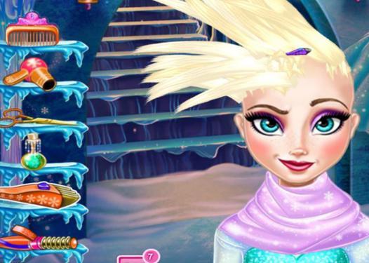 jeu de la reine des neiges coiffure