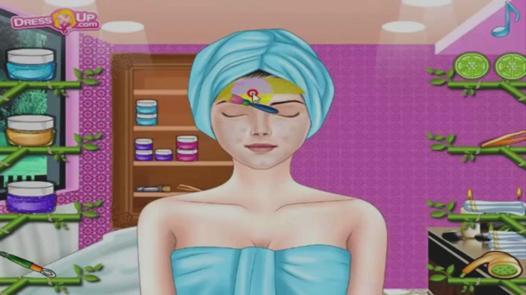 jeu de maquillage et coiffure
