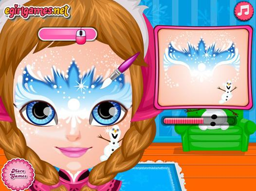 jeux de maquillage la reine des neiges