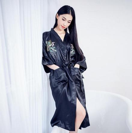 kimono satin long