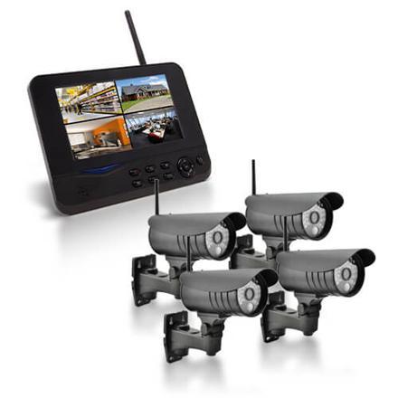kit camera de surveillance sans fil avec enregistrement