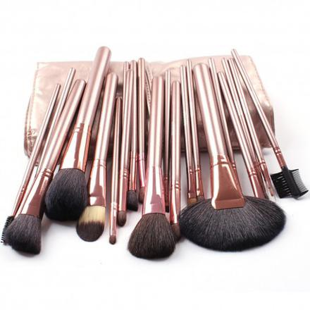 kit pinceau maquillage professionnel poil naturel